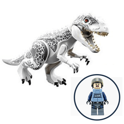 White T-Rex + Συλλεκτική Φιγούρα